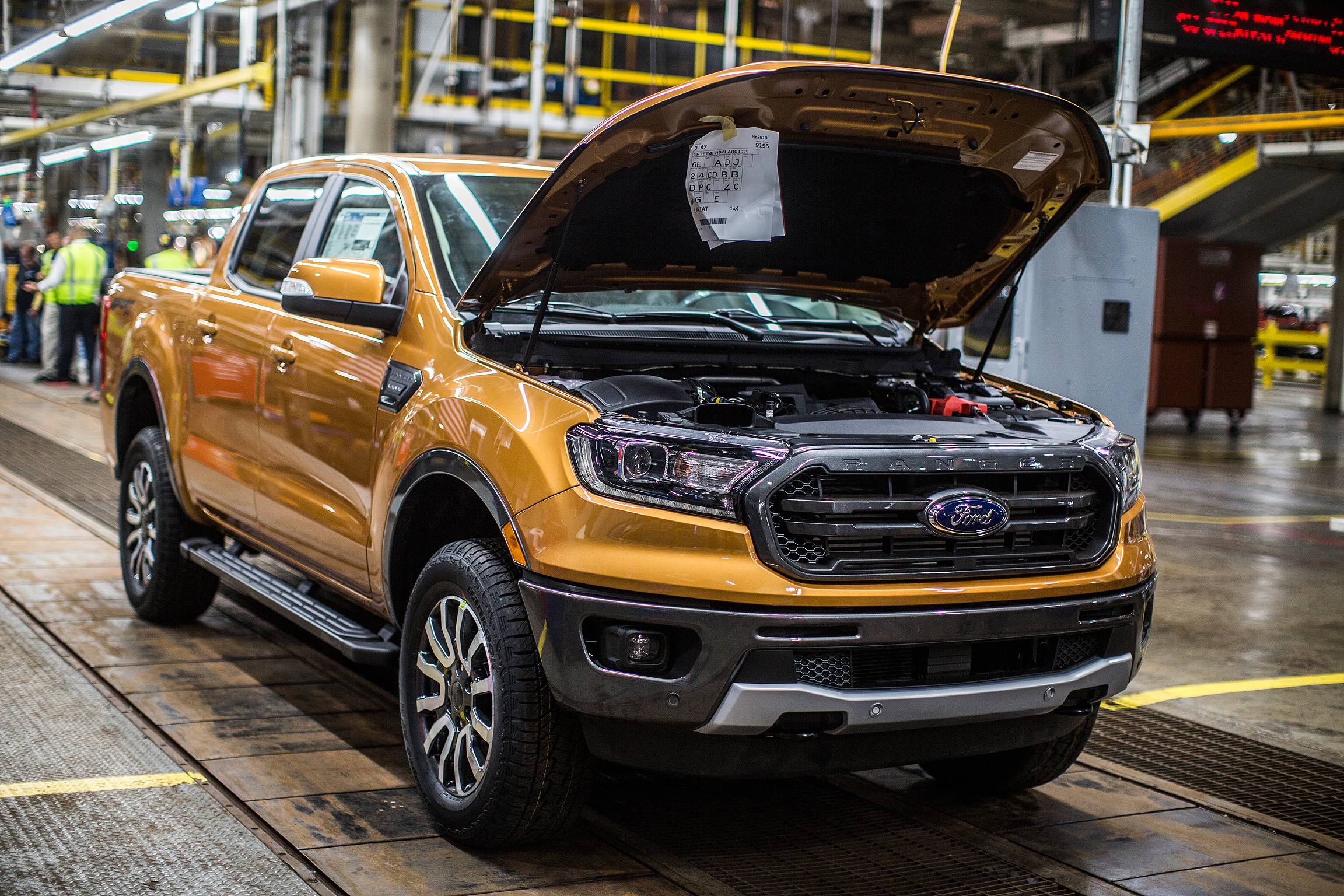 Ford ranger pickup rated at 23 mpg combined best among gasoline powered rivals