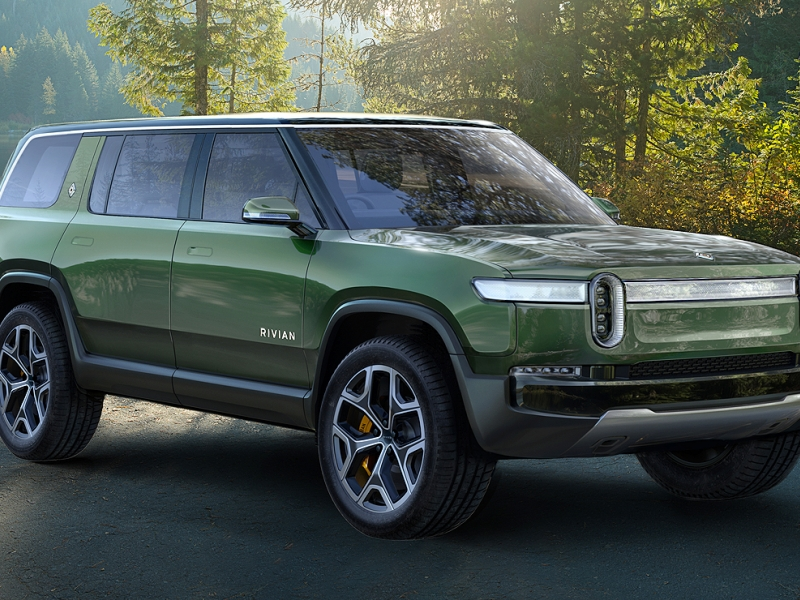 Electric Rivian R1s Suv Debuts At Los Angeles Auto Show