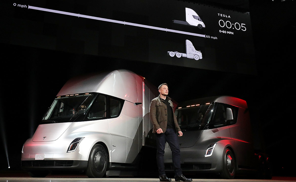 Tesla Aims To Upend Commercial Trucking With Electric Semi
